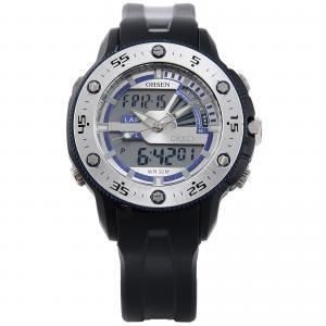 Buy cheap Ohsen Japan Quartz Rubber Sport Watch Lcd Dual Core , Countdown Stopwatch product