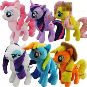 la peluche mignonne et belle de 8 pouces de bande dessinée joue mes petits jouets de peluche de collection de famille de poney