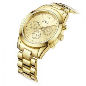 Buy cheap 24k Gold Brass Wrist Watch , Quartz Japan Movt Womens Watch Water Resistant product