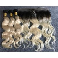 """Buy cheap Long Russian Ombre Human Hair Extensions Body Wave With Ear to Ear 13""""x4"""" Lace from wholesalers"""