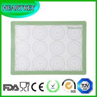 China Food Grade Kitchen Silicone Baking Mat With Measuring Scale Hot Macarons silicone baking mat on sale