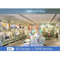 OEM Children'S Store Fixtures / Baby Clothing Showcase With Light Green Lacquer Finished