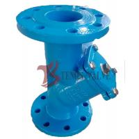 Buy cheap Flanged Y Type Strainer , Cast Iron Y Strainer With SS304 Screen Lining Mesh product