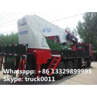 Buy cheap high quality hot sale 8*4 SINOTRUK HOWO 80ton heavy duty truck with crane, best from wholesalers