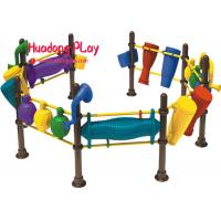 Buy cheap Colourful Kid'S Plastic Active Play Equipment Combination For At Least 3 Years Old product