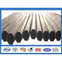 Buy cheap Polygonal Galvanised Steel Pole for Distribution with min yield strength 345 Mpa product