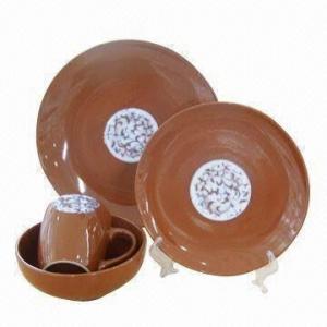 China 16 керамического частей набора диннерваре, доступного в коричневом цвете wholesale