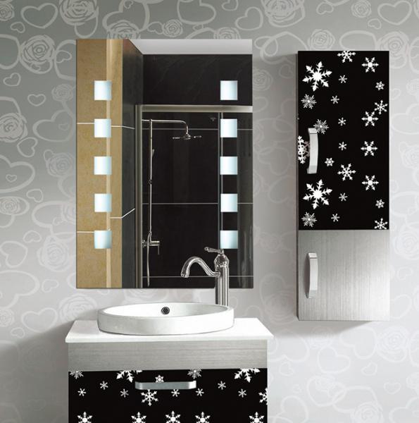 Rectangular frameless bathroom mirror decorative wall for Frameless rectangular bathroom mirror