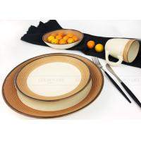 Buy cheap Square Eco - Friendly Ceramic Dinnerware Sets Safety Humanized Design product