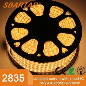 China high stable Sanan chips led strip lights belt smd 2835 220V Christmas light on sale