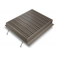 Silver Channel Drain Grate Cover , Low Carbon Galvanised Drainage Grates