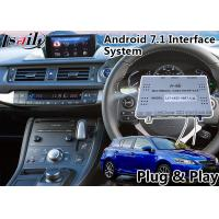 Buy cheap Android 7.1 Navigation Video Interface for 2016-2018 Lexus Knob Control CT 200h from wholesalers