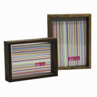 Buy cheap Walnut Veneer MDF Photo Frames with Double Glass product