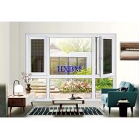 China Toughened Glass Pvc Double Glazed Windows Reinforced With Lined Steel on sale
