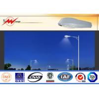 China 6m Single Arm Solar Street Light Poles , Galvanized Road Light Poles IP65 on sale
