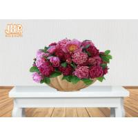 Buy cheap Boat Shape Frosted Gold Fiberglass Flower Serving Bowl For Home Wedding product