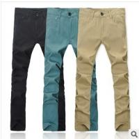 Buy cheap Elastic cotton fabric pants straight barrel type leisure trousers product
