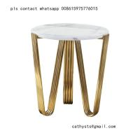 Buy cheap marble table titanium gold stainless steel metal base or leg from wholesalers
