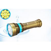 China Brightest 6500k Cree Xml2 Led Dive Torch With 6*18650 Rechargeable Battery wholesale