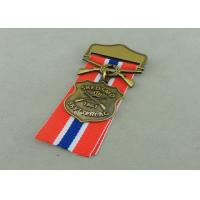 Buy cheap Zinc Alloy Military Awards Medals , 3D Die Casting Short Ribbon Medallions product