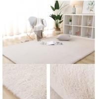 Buy cheap 100% Polyester rug carpet Black/Brown/Gray/Red/White Faux rabbit fur carpet for kids room living room bed room product