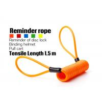 Buy cheap Extended Anti Theft Spring - Shaped Telescopic Wire Rope For Motorcycle product