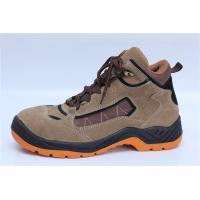 Buy cheap suede leather safety shoes steel toe cap safety work boots PU injection 9078 product