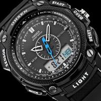 Buy cheap Black Dial Mens Sport Wrist Watches 47mm Case With Water Resistant product