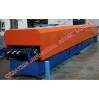 China Metal Rain Water Downpipe Panel Roll Former Machine with Auto Elbow Pipe Crimping Equipment on sale