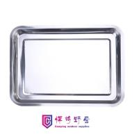 Buy cheap SK08 Stainless steel square tray, rectangular tray, iron tray, commercial barbecue tray, grilled fish tray product