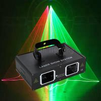 Buy cheap Double Head Multi Patterns 500mW RGB Full Color DMX Colorful Disco Laser Line Light product
