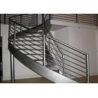 Buy cheap Interior modern residential steel wood stairs double stringer curved staircase product