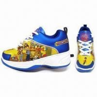 China Roller Shoes with Automatic Button in the Shoe Heels, Suitable for Children's Recreation on sale
