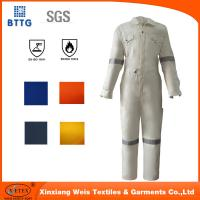 Buy cheap 2016 white EN11612 100% Cotton fire retardant workwear coverall product