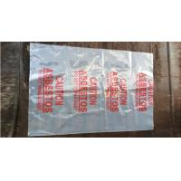 China PE packing bag for Asbestos fibers, large size thicker LDPE asbestos remove bags, Large Asbestos Waste Removal Bags, pac on sale