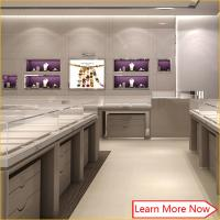 Buy cheap Customized interior decoration jewellery shop counter design with corian counter top from wholesalers
