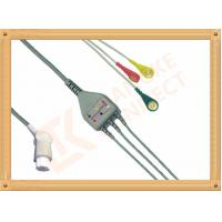 Buy cheap Gray SW Artema ECG Patient Cable 3 Leads Snap IEC durability product