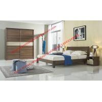 Buy cheap Wood & Panel furniture in modern deisgn Walnut color by KD bed with Sliding door wardrobe product