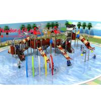Buy cheap Giant Water Park Equipment , Beautiful Commercial Outdoor Play Equipment Top Rated product
