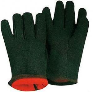 適用範囲が広い10は茶色の綿の手袋/手袋を並べる保護赤い羊毛をじりじり動かします