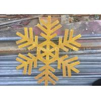 Buy cheap Custom Size PVC Snowflake , Christmas Tree Decorations With Gold Glitters product