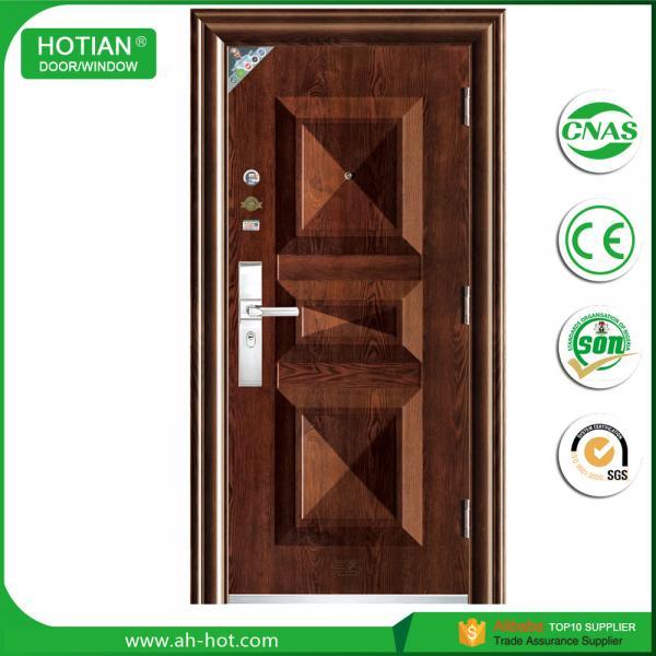 New design steel single main door design wrought iron for New single door design