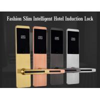 China Ultra Thin RFID Hotel Door Locks , Zinc Alloy Material IC Card Induction Lock on sale