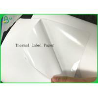 Buy cheap Blank White Waterproof Thermal Label Paper Sticker Rolls Self Adhes Barcode Paper product