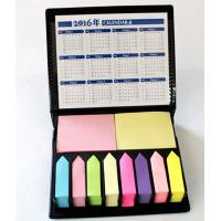 Buy cheap 2016 PU Memo Holder with sticky note/Promotional Sticky Notes Organizer In Leather Box and calendar product