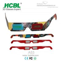 Custom Paper Anaglyph 3D Glasses With Full Color Logo For 3D Theater