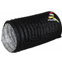 China PVC Aluminum Portable Fire Rated Flexible Ducting With 3000 Pa Operating Pressure wholesale