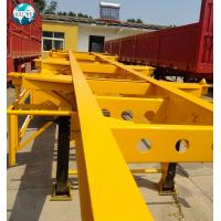 Buy cheap 20ft 40ft 3 axles customized skeletal container trailer  Semi Trailer for container shipping product