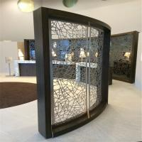 Buy cheap metal curved screen stainless steel room divider for partition wall panel product