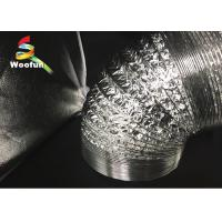 China Flame Resistant Aluminum Dryer Duct / Aluminium Flexible Ducting , Easy To Install wholesale
